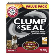 ARM & HAMMER™ Clump & Seal™ Multi-Cat Clumping Cat Litter