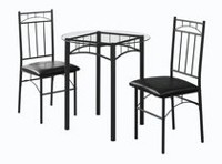 Monarch Specialties Black Metal Dining Set
