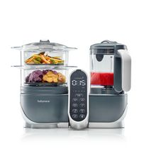Babymoov Duo Meal Station - 5 in 1 Food Maker with Steam Cooker, Blend & Puree (grey)