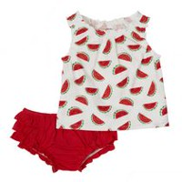 George baby Girls' Top & Bloomers Set Red 3-6 months