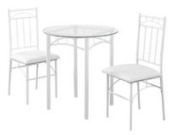 Monarch Specialties White Metal Dining Set