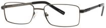 Buxton BX16 Men's Gunmetal Eyeglasses