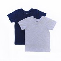 George Toddler Boys' 2 piece 100% Cotton Navy/Grey T-Shirts 2T-3T