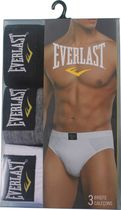 Everlast Men's Low Rise Briefs - Pack of 3 Black S