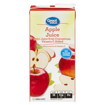 Great Value 100% Pure Apple Juice from Concentrate