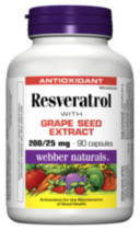 Webber Naturals® Resveratrol with Grape Seed Extract