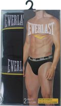 Everlast Men's Trunk Briefs with Mesh - Pack of 2 Black M