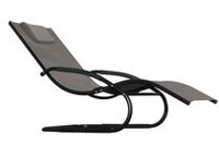 Vivere Aluminum Wave Lounger Black chrome