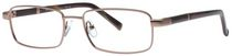 Buxton BX23 Men's Gunmetal Eyeglasses