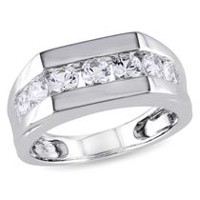 Miabella 1.20 Carat T.G.W. Created White Sapphire Sterling Silver Men's Fashion Ring 11