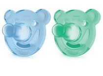 Philips Boys' Soothie Bear Shaped Pacifier