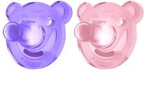 Philips Girls' Soothie Bear Shaped Pacifier
