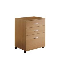 Nexera Essentials 3-Drawer Mobile File Cabinet #5092