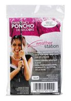 Weather Station Rain-emergency Adult Poncho