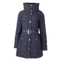 George Women's Belted Puffer Jacket Navy XS