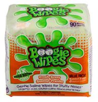 Boogie Wipes Fresh Scented Gentle Saline Wipes for Stuffy Noses