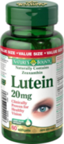 Nature's Bounty Lutein 20mg Value Size 60 Softgels