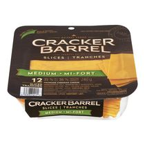 Cracker Barrel Natural Medium Cheddar Cheese Slices