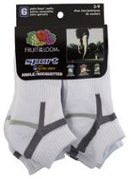 Larges socquettes de sport Fruit of the Loom pour garçons en paq. de 6 paires