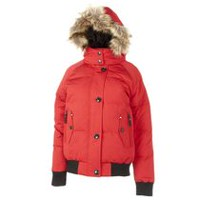 Canadiana Women's Hooded Bomber Jacket Red XL