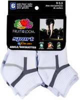 Fruit of the Loom Boys' 6-Pack Sport Medium Ankle Socks