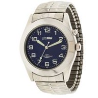 Globlu Mens Silvertone Expansion Analog Watch
