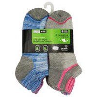 Athletic Works Women's 6 Pair Low Cut Socks