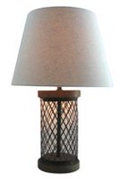 hometrends Cage Base Table Lamp