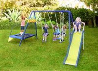 Sportspower Swing, Slide and Trampoline Set