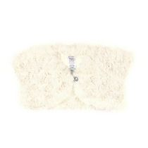 George Girls' Faux Fur Shrug Ivory 18-24 months