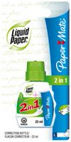 Liquid Paper 2in1 Correction Fluid Pen & Brush Combo