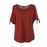 George Women's Cold Shoulder Top Cowhide L