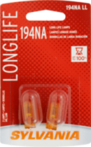 Sylvania Long Life 194 NA LL Automotive Miniature Bulb, 2 pack