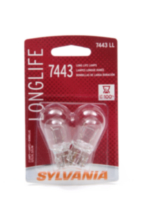 Sylvania Long Life 7443 LL Automotive Miniature Bulb, 2 Pack
