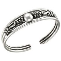 "Sterling silver ""Bali"" Adjustable Ring"