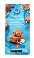 Great Value Crispy Rice Milk Chocolate Bar