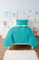 Mainstays Kids Blue Chevron Reversible Quilt Set Twin