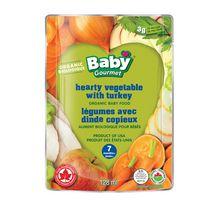 Baby Gourmet Légumes avec dinde copieux nourriture biologique pour bébés