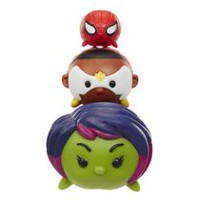 Marvel Tsum Tsum Wave 1 Gamora/Falcon/Spiderman 3 Pack Action Figures