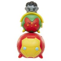 Marvel Tsum Tsum Wave 1 Iron Man/Vision/Hulk (Grey) 3 Pack Action Figures