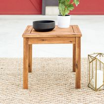 Manor Park Patio Wood Side Table - Multiple Finishes