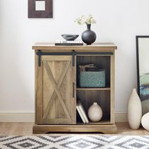 Manor Park Farmhouse Barn Door Accent Table and Entryway Table- Multiple Finishes