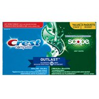 Crest Complete Outlast Whitening + Scope Mint Toothpaste Triple Pack