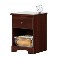 South Shore Summer Breeze 1-Drawer Night Stand Royal Cherry