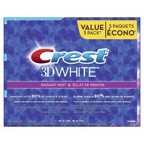 Crest 3D White Radiant Mint Whitening Toothpaste Value Pack