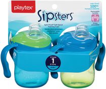 Playtex Baby Sipsters Spill-Proof Soft Spout Training Cups