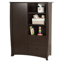 South Shore Beehive  Espresso Armoire with Drawers Espresso