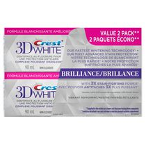 Crest 3D White Brilliance Vibrant Peppermint Whitening Toothpaste Value Pack