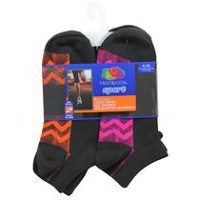 Fruit of the Loom Ladies No Show Sport Socks, 6 Pairs