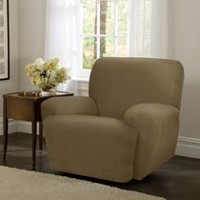 Mainstays Newman Stretch 1 Piece Recliner Slipcover Gold